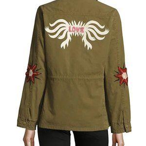 Maison Scotch Jardin D'apus embroidered jacket